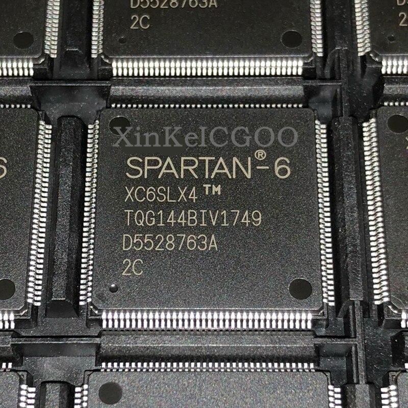 Original 10 piezas XC6SLX4TQG144-2C XC6SLX4-2TQG144C TQFP-144 FPGA de nuevo en STOCK