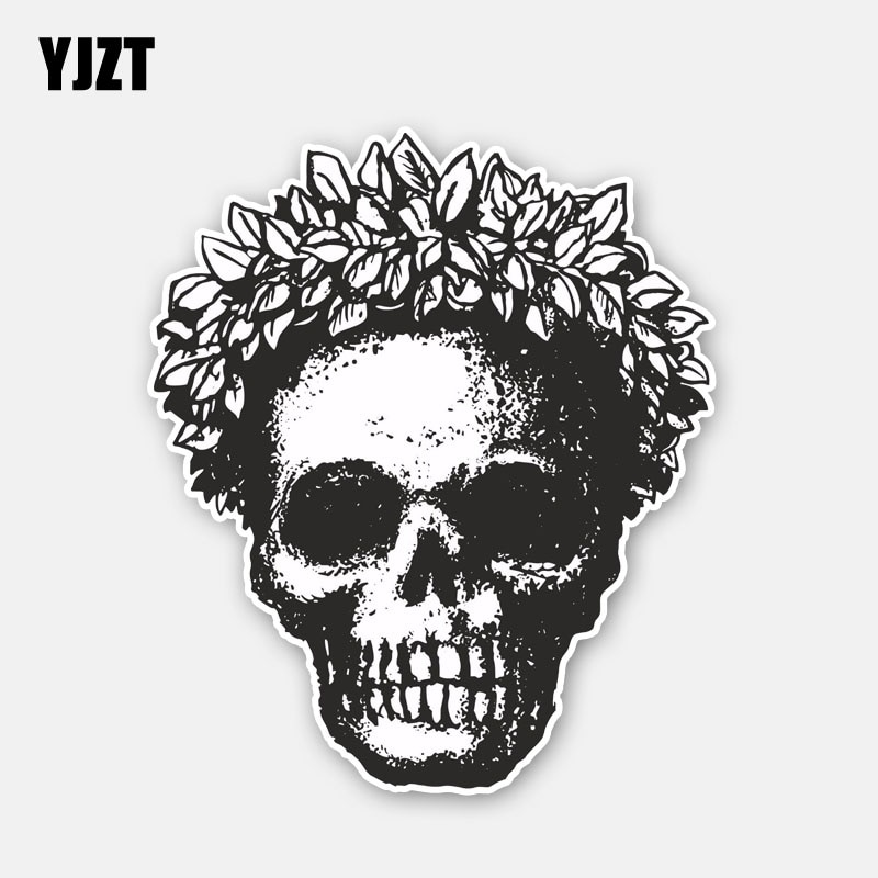 YJZT 11.5CM*13.5CM Car Accessories Skull Head Tribe Motorcycle Car Sticker Decal 6-2778