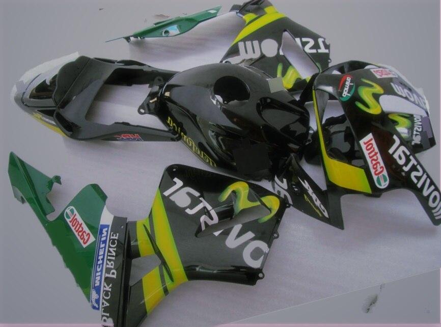 Kit de carénage de moto pour hd CBR600RR CBR600 CBR 600 2005 2006 05 06 F5 kit de carénages en plastique ABS de haute qualité noir vert