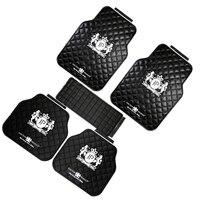 1 Set 5Pcs Junction Produce Car Latex Floor Mats Foot Mats White JP Logo Black Mats Carpets Vip Car Chassis Mats For Sedan