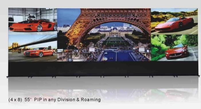 4k plus Full HD LCD video wall 0 mm bezel Spliced video wall 4x8 lg panel 55'' PIP Roaming LCD video wall
