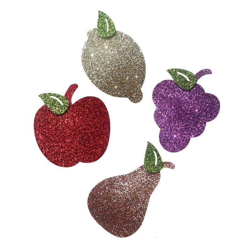 Boutique ins 20 piezas de moda lindo brillo de manzana de limón de pera Snap Clips horquillas frutas broches pelo Clips princesa sombreros