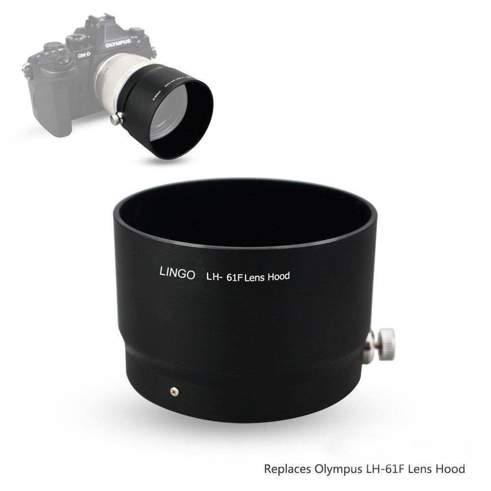 Parasol de lentes de Metal para Olympus M objetivo ZUIKO DIGITAL ED 75mm f/1,8 sustituye a Olympus LH-61F negro