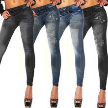2019 New Women High Waist Skinny long Jeans Jeggings Denim Pecil Print Pants Lady Slim Elastic Skinny fit Pant Trousers 4 colors