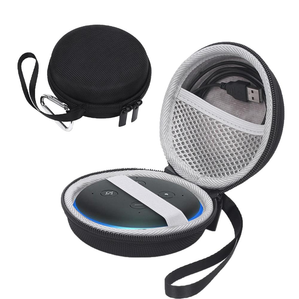 Funda de transporte de almacenamiento EVA para Amazon Echo Dot 3ª generación altavoz inteligente funda bolsa de mano bolsa protectora con cremallera bolsa de accesorios