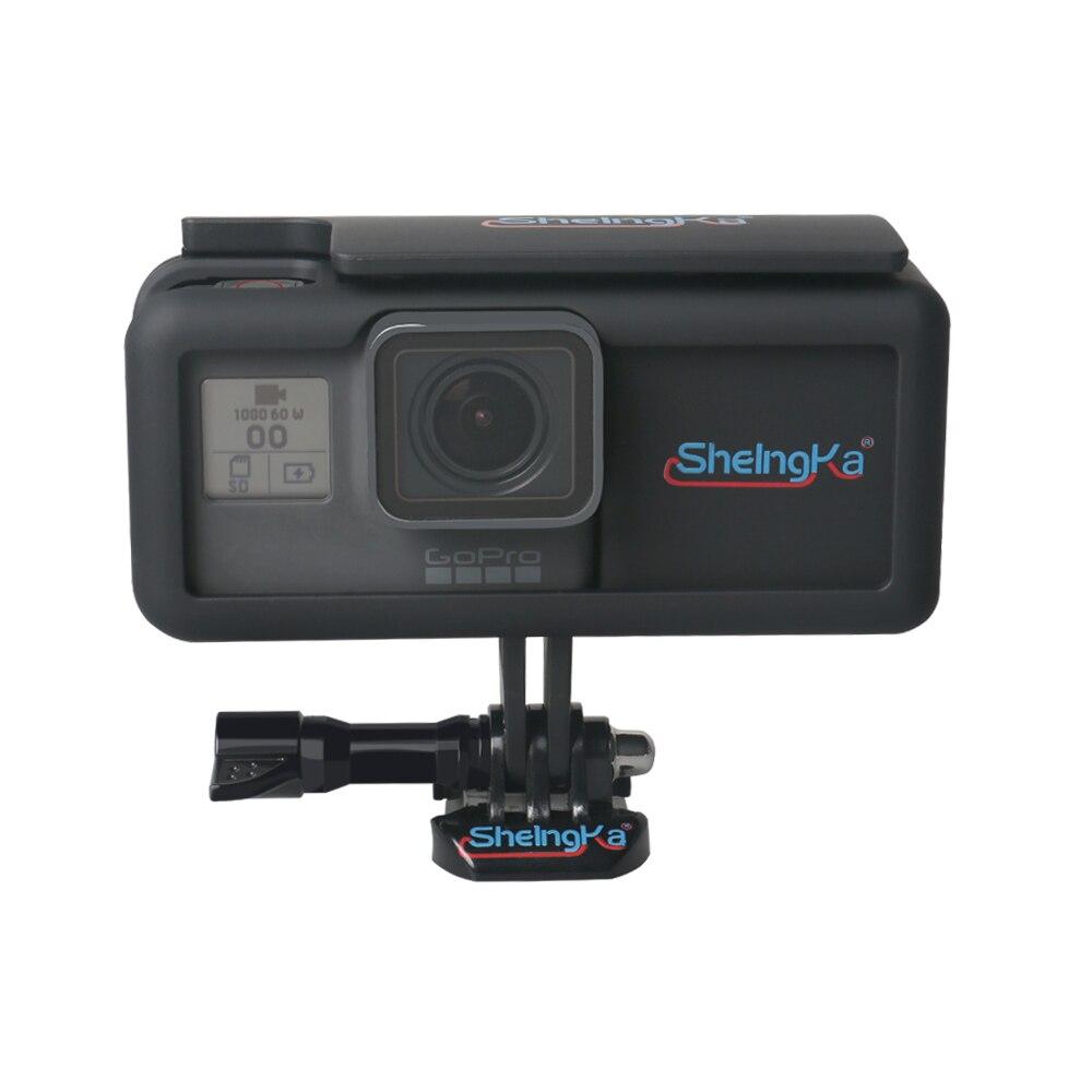 Боковой внешний аккумулятор, Мобильный блок питания с каркасом, защитный корпус для GoPro Hero5/6/7, черный Тип C, аксессуары для камеры