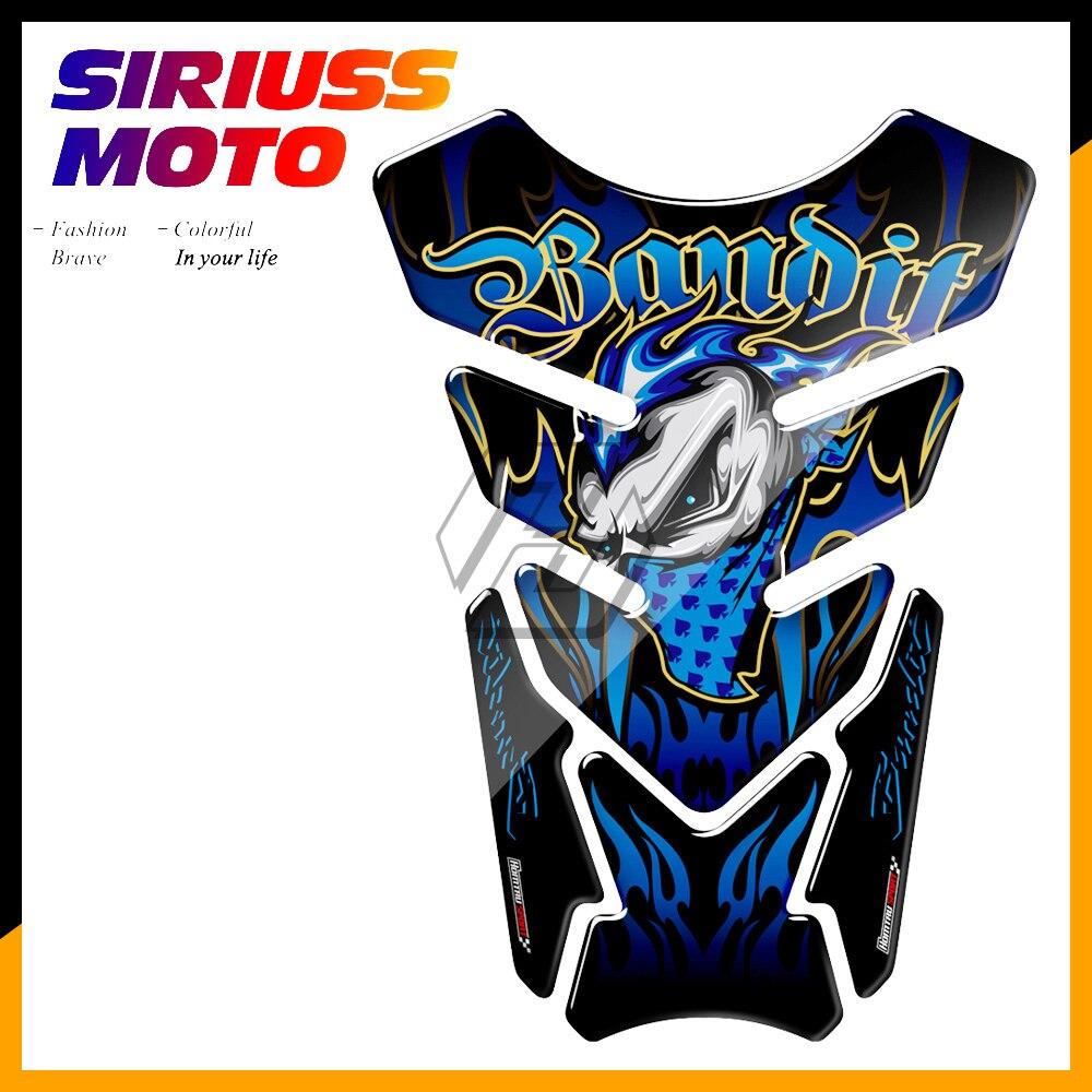 Caso 3D Motocicleta Tanque Pad Tankpad Protetor Gel Adesivo Bandido para Suzuki Bandit 600 650 1200 1250 650 s 600 s ABS