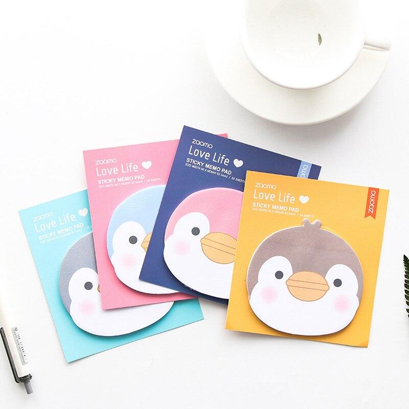 1 PCS Pinguim Dos Desenhos Animados Mini Animal Adesivos Memo Pads Sticky Notes para o Álbum Diário Decoração Suprimentos Estudante Papelaria BLT113