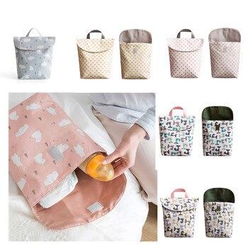 Bébé couches sacs sac de maternité imperméable à l'eau humide tissu couche-culotte sac à dos réutilisable couche-culotte sèche humide sac pour maman bébé soins