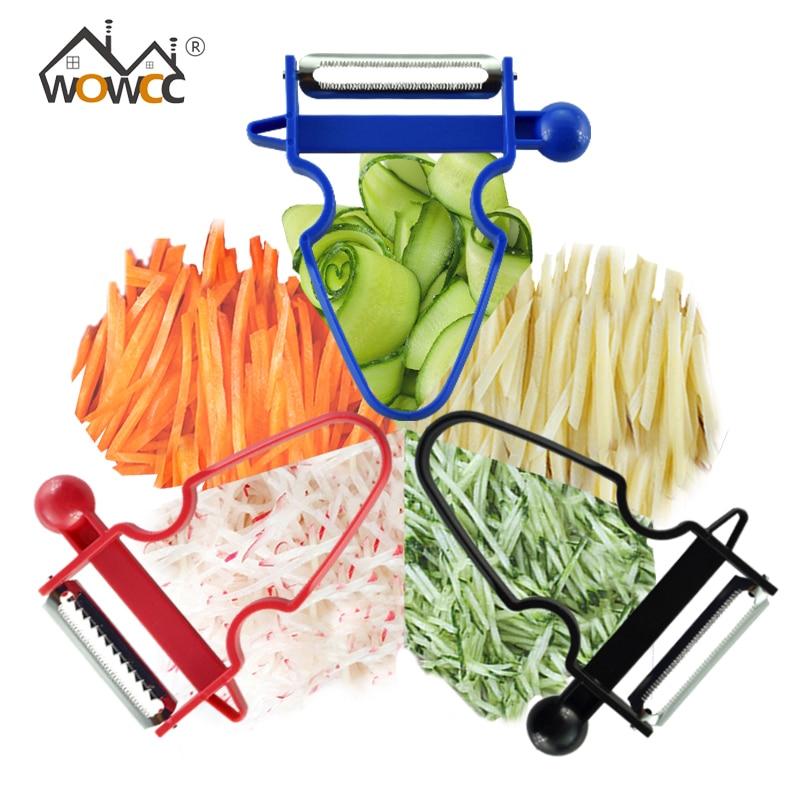 WOWCC 3 stücke Schäler Set Trio Schäler Schnitzler julienne Multifuction Gemüse Obst Kartoffel Cutter Zesters Küche Werkzeuge