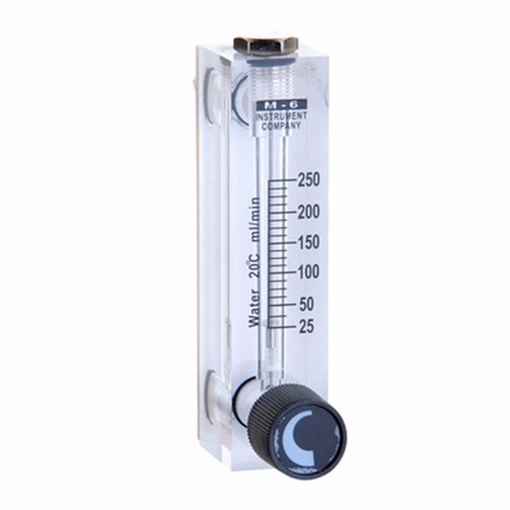 LZT-6T 25-250 ml/min Panel cuadrado tipo caudalímetro líquido medidor de flujo de aire rotámetro LZT6T herramientas de medición de flujo
