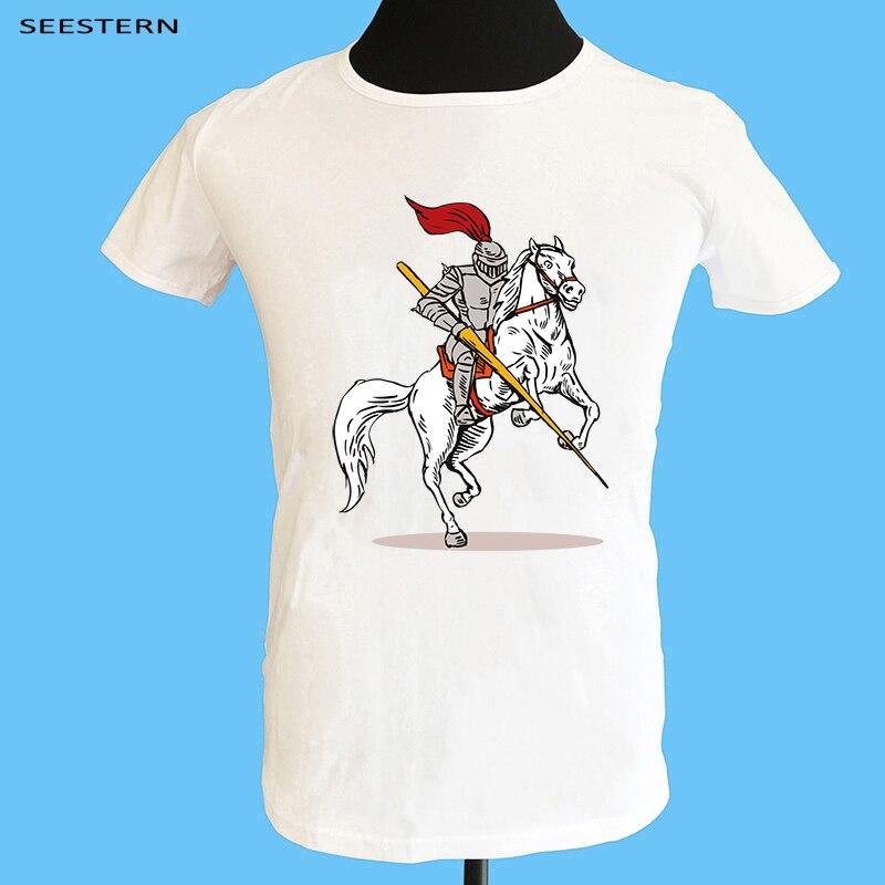 Seestern marca arte Picasso pintura hombres Camiseta de manga corta 100% Camiseta de algodón camiseta divertida Don Quijote Caballero top mujeres homme camiseta