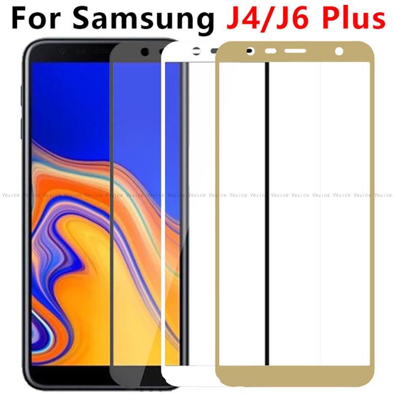 Ekran+koruyucu+i%C3%A7in+Samsung+Galaxy+J4+art%C4%B1+temperli+cam+Samsung+J4+J6+art%C4%B1+2018+J415F+J415+SM-J415F+cam+tam+kapak+filmi