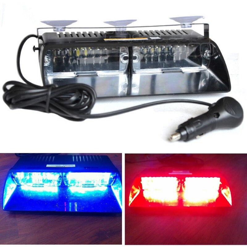 48W parabrisas S2 Viper señal intermitente de coche emergencia bombero policía baliza de advertencia rojo azul ámbar luz Led estroboscópica bar