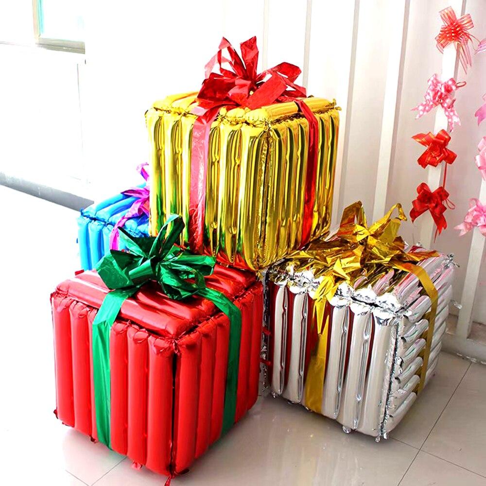 Caja de regalo de Navidad decoración de árbol de Navidad accesorios decoración de muebles