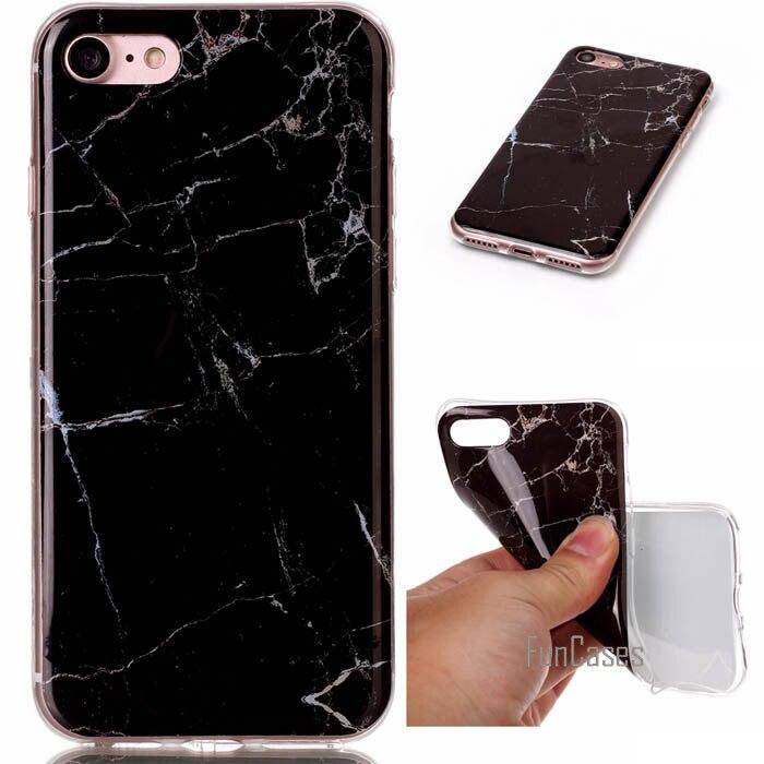 Étui pour iphone de luxe en marbre granit 7 coque souple en Silicone pour iphone 7 Plus 6 6S plus SE 5S 5 5C coque 4.7 & 5.5