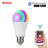 15W Ampoule LED E27 RGBW Bluetooth Smart Light Bulb 85-265V 20 Modes Magic Colors Music Control Function For Home Hotel Bar