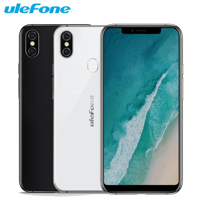"Original Ulefone X teléfono móvil 5,85 ""HD + 4GB RAM 64GB ROM MT6763 Octa Core Android 8,1 Cámara Dual 3300mAh cara de Smartphone"
