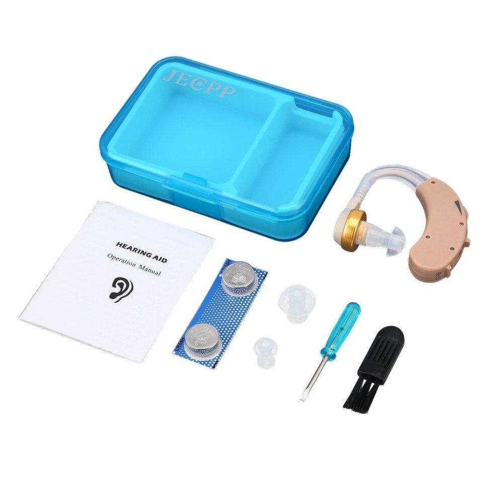 Mini aparelho auditivo para idosos, mini aparelho auditivo amplificador de som com voz