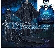 Jason Movie Malefica Cosplay Costumes Sex Black Dresses angelina jolie Cosplay Dresses Free Horn
