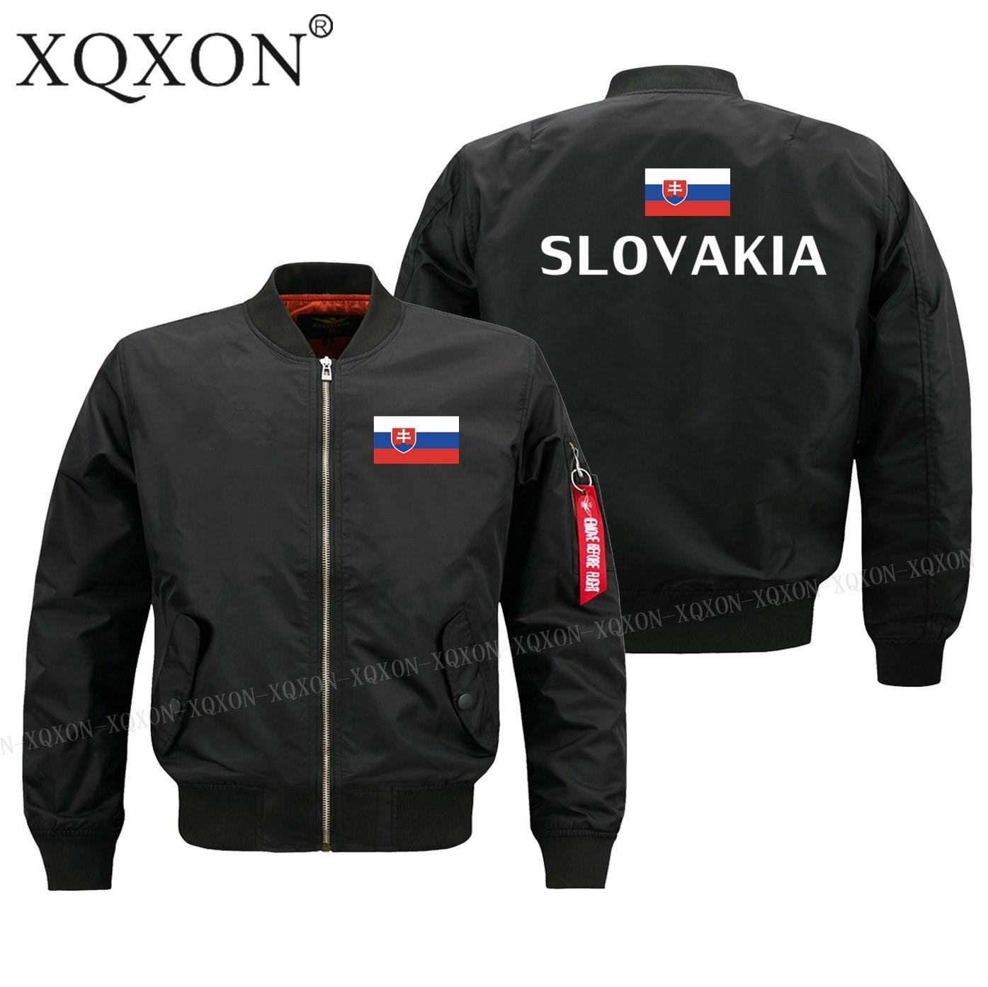Новинка, осенне-зимняя куртка-бомбер с флагом Словакии, высококачественные мужские куртки, пальто, мужские куртки на молнии J190