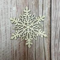 50x laser cut wood christmas snowflake christmas decoration