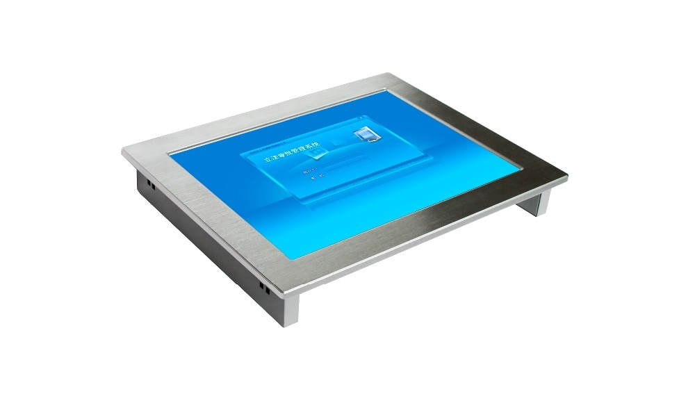 Fanless 15 Inch with touch screen High Brightness Embedded Industrial panel PC