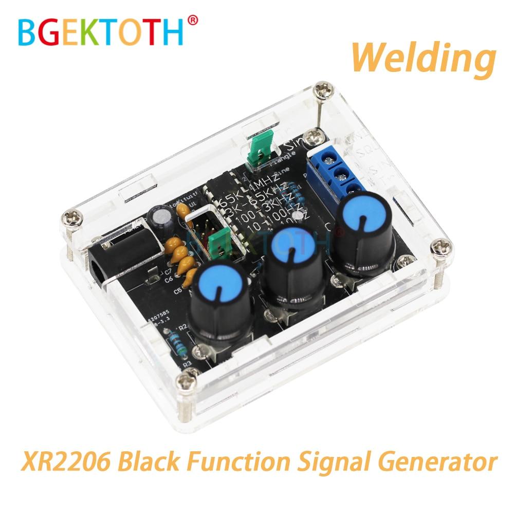 Generador de señal de función sinusoidal/triángulo/cuadrado, generador de señal de soldadura de montaje completo, frecuencia ajustable de amplitud XR2206