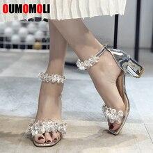 2020 Sandalias de mujer de moda de Nuevos Bohemios Sandalias de tacón alto de cristal zapatos de mujer con diamantes de imitación E263