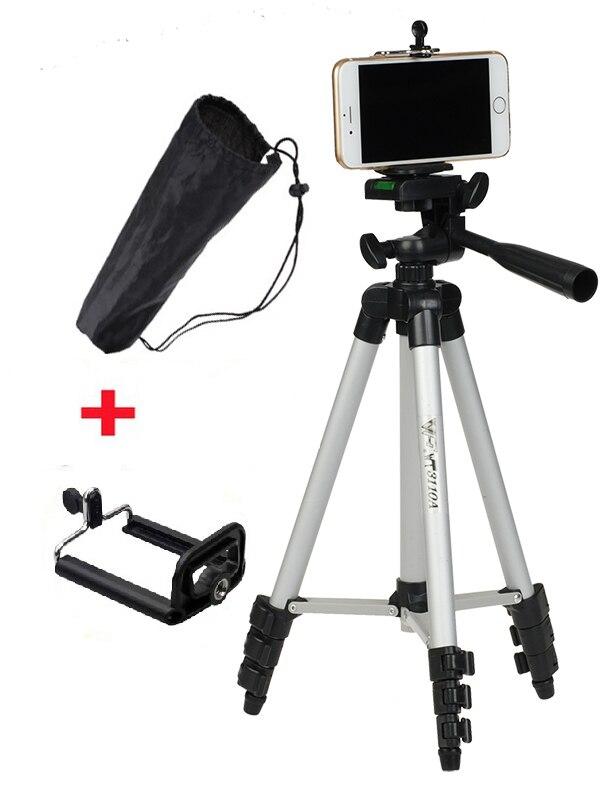 WEIFENG WT3110A 3110A trípode con 3-Forma de la cabeza del trípode para Nikon D7100 D90 DSLR Sony NEX-5N para Canon 650D 70D 600D para iphone