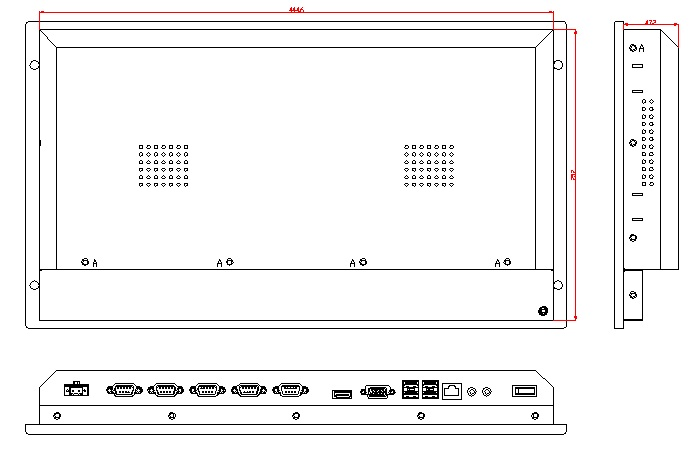 6U Embedded Industrial Computer, Core i3-4005U CPU, 4GB RAM,500GB HDD, 5-W touchscreen, rack mount HMI, touch panel pc