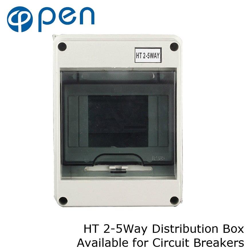 HT серия 5Way IP66 водонепроницаемая и влагостойкая распределительная коробка для автоматических выключателей внутри стены