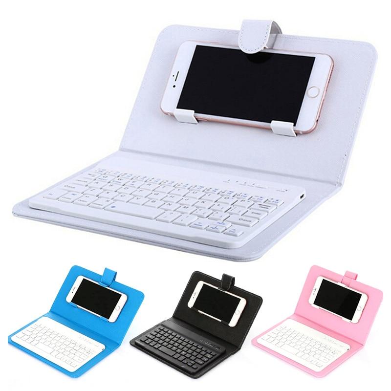 Heißer Verkauf Drahtlose Tastatur Fall Dünne Mini Bluetooth Schlüssel Bord Handy Zubehör für Iphone Android Universal