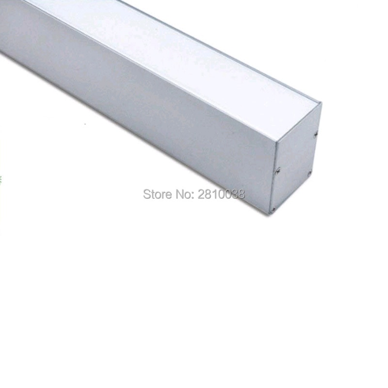 50 X 2 M Sets/Lot Office lighting led aluminum channel Large U size aluminium led extrusion profile for suspending lamps