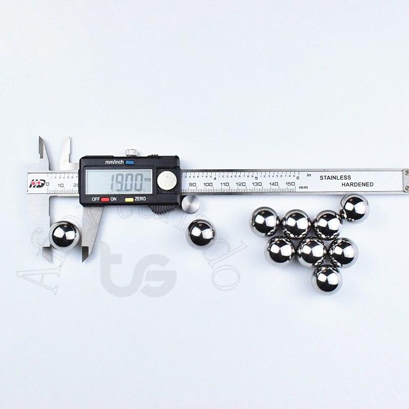 19mm Diâmetro da esfera de Aço Cromo 19mm 0.7480315 polegada 10 pçs/set Precisão G10-Grade