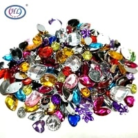 hl 100pcspackage lots mixed size shape loose sew on rhinestones apparel bags shoes sewing accessories diy crafts