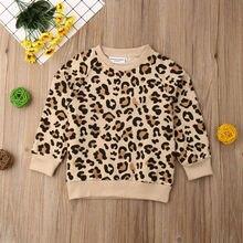 Kleinkind Kinder Baby Junge Leoparden-print Tops Sweatshirts Mantel Jacke Mode