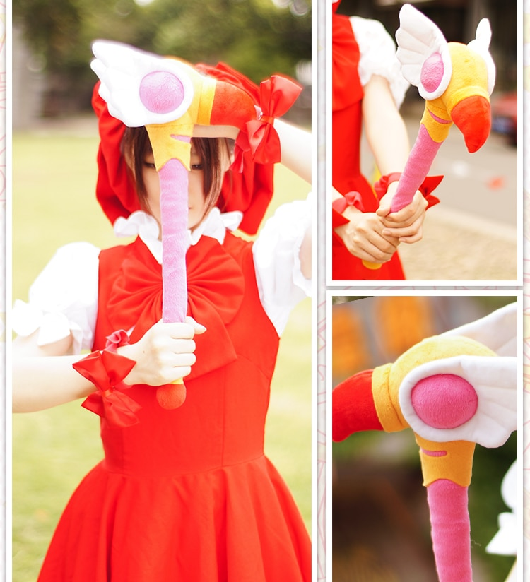 Cardcaptor chica mágica Sakura personal Japón Anime Sakura tarjeta Captor felpa varitas cosplay accesorios juguete