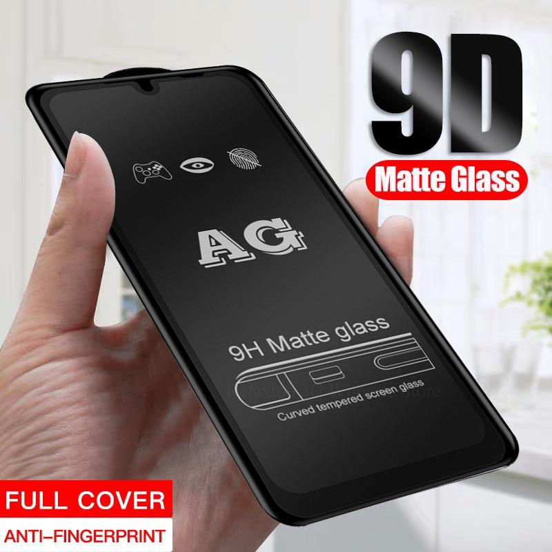Vidro fosco fosco 9d para xiaomi mi 9 t 9 vidro temperado em xiomi xaomi redmi nota 9s 8 9 pro max 7 anti-impressão digital segurança vidro