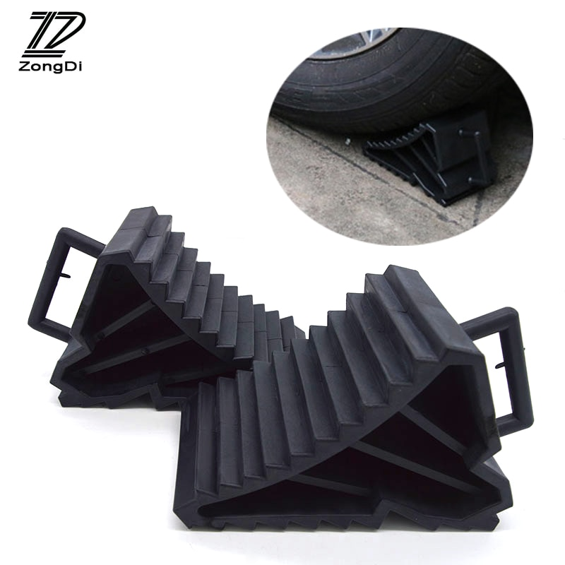 Cojín triangular ZD 2X de goma antideslizante para el coche para Opel astra h Nissan qashqai Chevrolet cruze accesorios Toyota Corolla