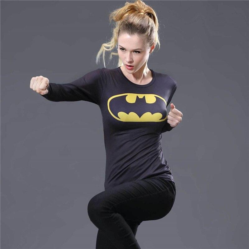 Camiseta de compresión para mujer, de manga larga Camiseta deportiva para Yoga, camiseta ajustada para mujer