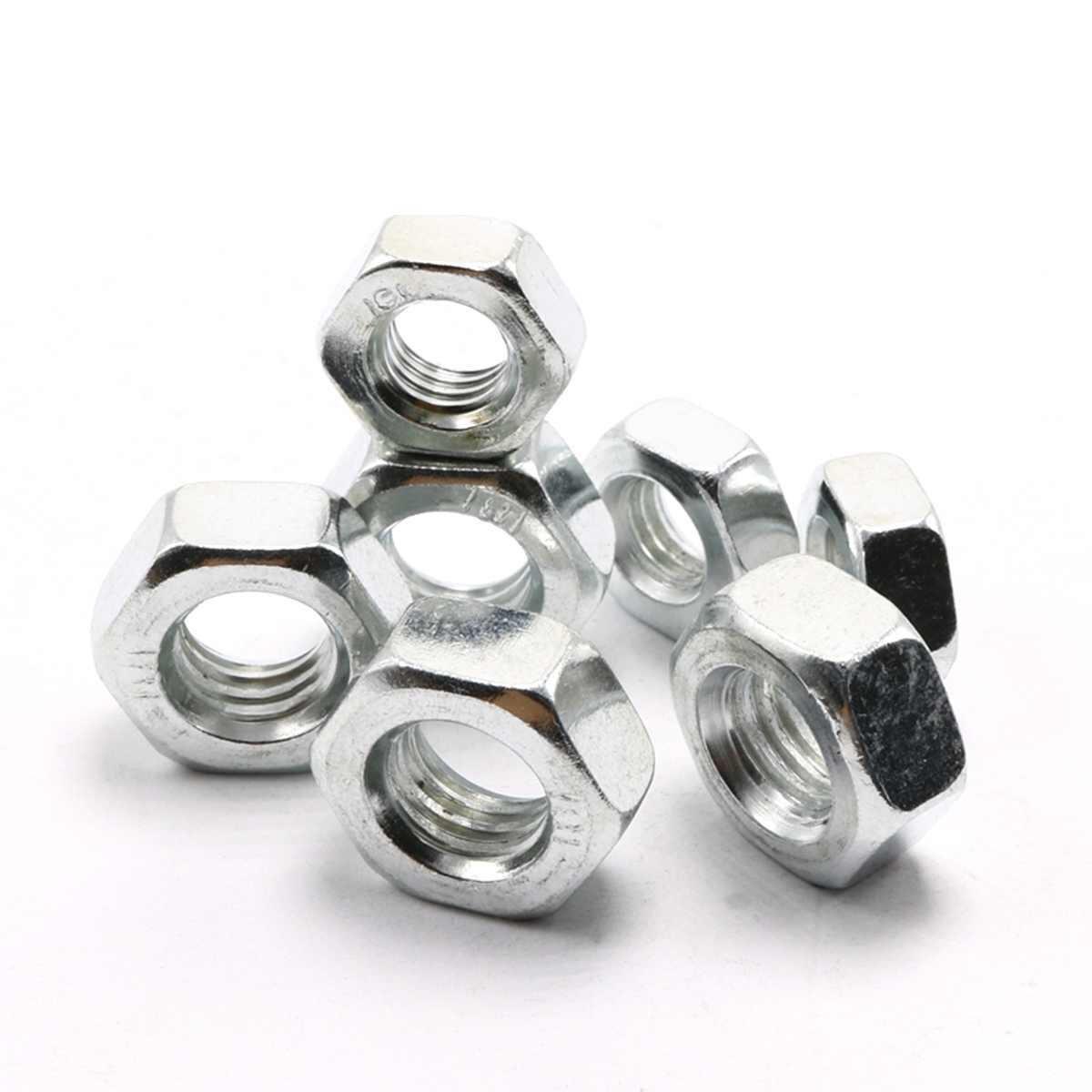 Acero métrico M4 * 0,7 M5 * 0,8 M6 * 1,0 M8 * 1,25 M10 * 1,5 paso tuerca hexagonal de rosca izquierda