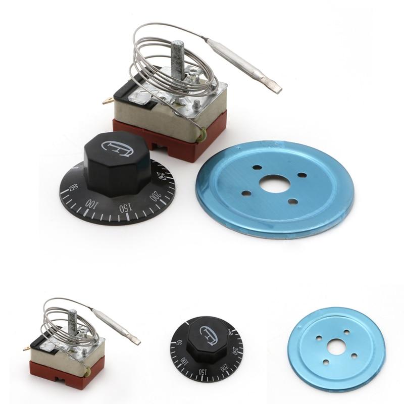 Termostato de Dial de 50-300 ℃, Interruptor de Control de temperatura para horno eléctrico CA 220V 16A