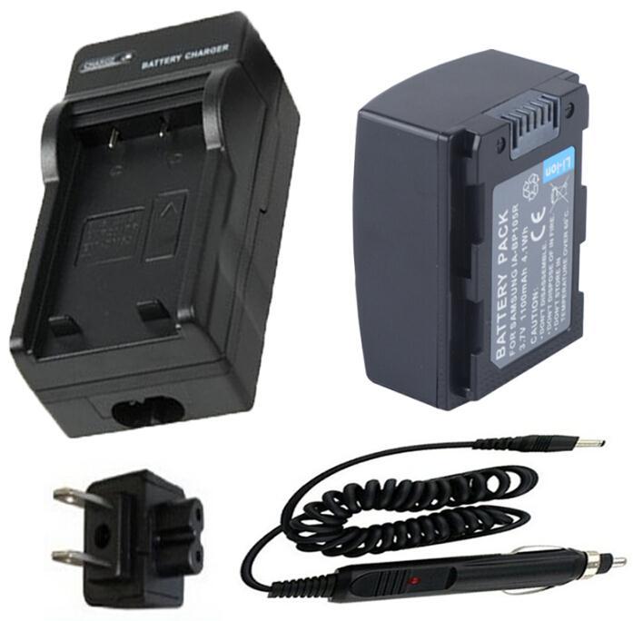 IA-BP105R batería + cargador para SAMSUNG HMX-H300, HMX-H303, HMX-H304, HMX-H305, HMX-H320, SMX-F50, SMX-F70, MX-F500, SMX-F700, videocámara de