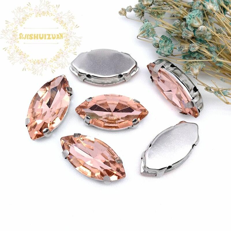 ¡Más tamaños! Ojo de caballo rojo agua cristal morado profundo costura diamantes de imitación con garra jeans DIY Mujer y vestidos de boda