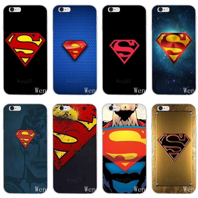 Caja del teléfono de silicona marvel superhéroe logo de superman para Nokia 5 5 5 6 6 7 plus 8 HTC One X9 A9 M10 M8 M9 E9 U11 U112 deseo de 830 de 820 a 816