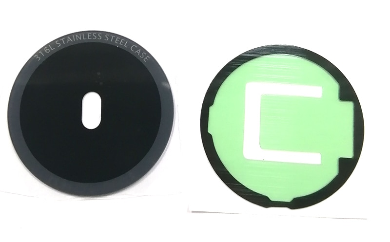 Carcasa carcasa trasera para batería puerta trasera de cristal funda para Samsung reloj engranaje S2 R720 R730 con pegamento adhesivo