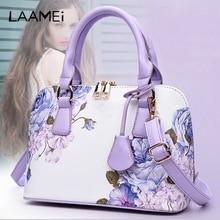 Laamei 4 Styles Printed Flower Bags For Women Bags Famous Brand Women Shopper Bag Shell Elegant Floral Shoulder Luxury Handbags