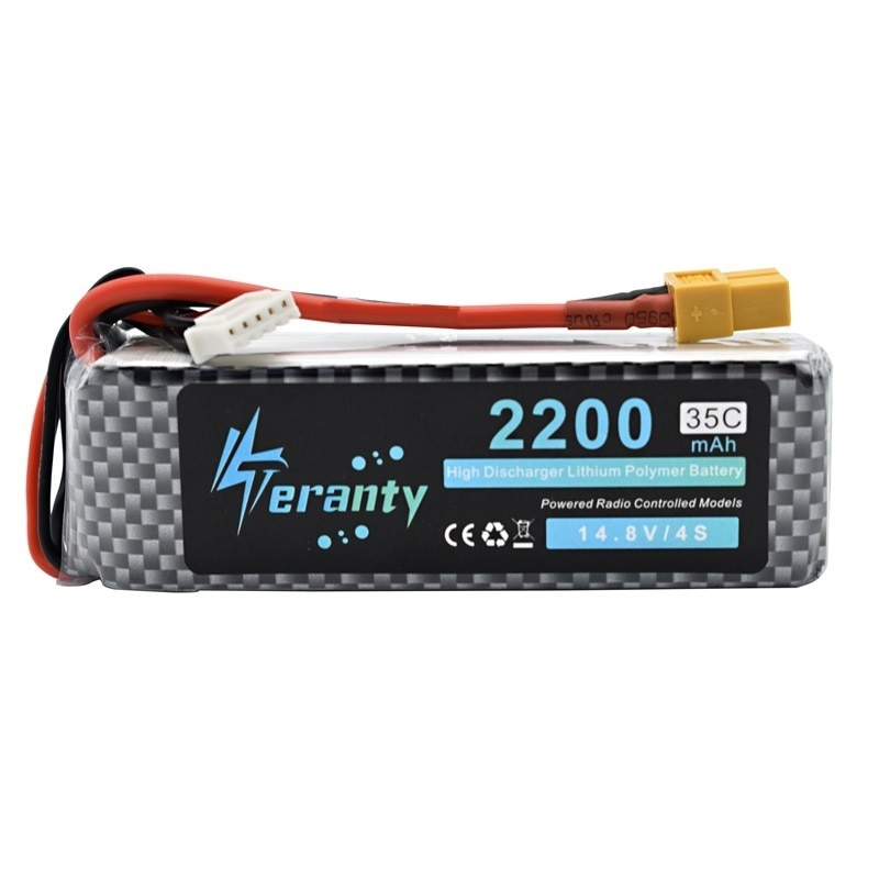 5pcs/lot 14.8v 2200mAh 35C Li-Po Battery T/XT60/JST/EC5 Plug Rechargeable 4S Lipo lithium Battery For RC Car Airplane Helicopter enlarge