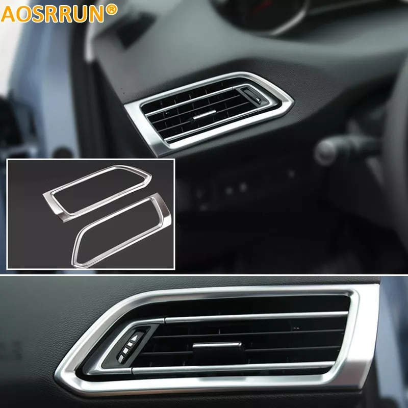 AOSRRUN רכב אביזרי LR לשקע מיזוג אוויר כיסוי ABS כרום צלחת עבור פיג 'ו 308 T9 SW אחורית 5 דלת 2015 2016